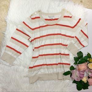 Banana Republic   White  3/4 sleeves sweater